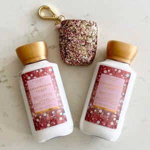 Bath and Body Works Champagne Toast bundle